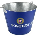 Foster's beer barrel made by galvanized iron
