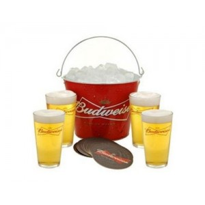 wholesale beer buckets, budweiser metal beer ice buckets