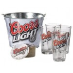 cool light ice beer metal bucket factory, beer storage galvanized bucket