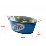 7.5L oval miller lite beer hot sale pail by iron