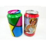 coin bank tin box with colourful logo printing