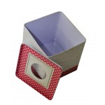 Squared Offset Printing Tissue Metal Box