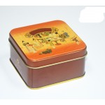 Custom Square Black Tea Tin Box Manufacturer