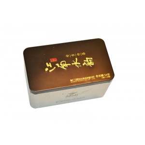 Rectangle Black Tea Packing Tin, Tea Tin Package, Tradition Tea Tin Box