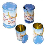 Round Tea Tin Box, Round Tea Gift Tin Box, Round Tea Tin