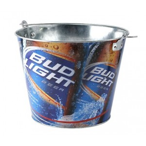 Tsingtao Beer Storage Metal Ice Bucket with Handle